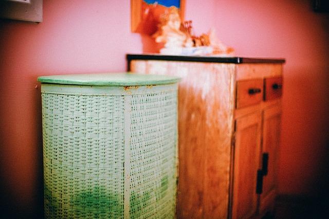 koš na prádlo rustikální