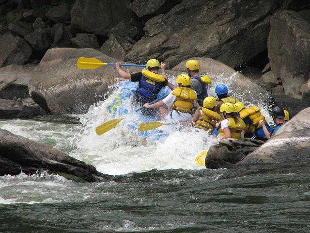 rafting na řece
