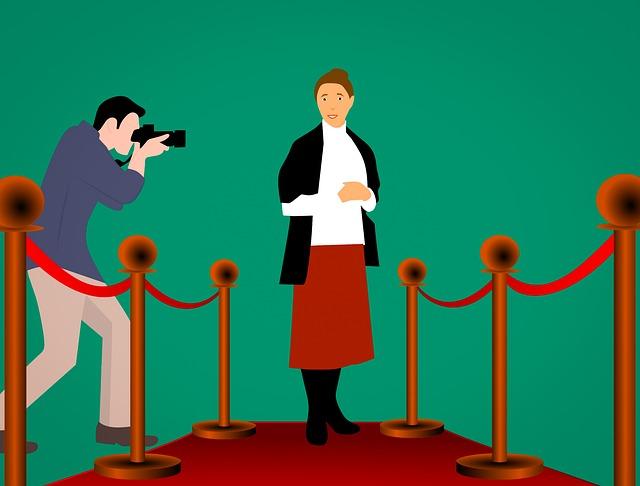 červený koberec pro herečku